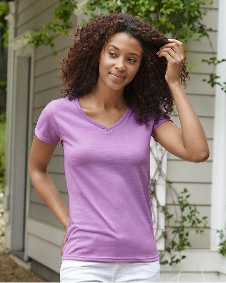 Gildan-Heavy Cotton™ Women's V-Neck T-Shirt-5V00L