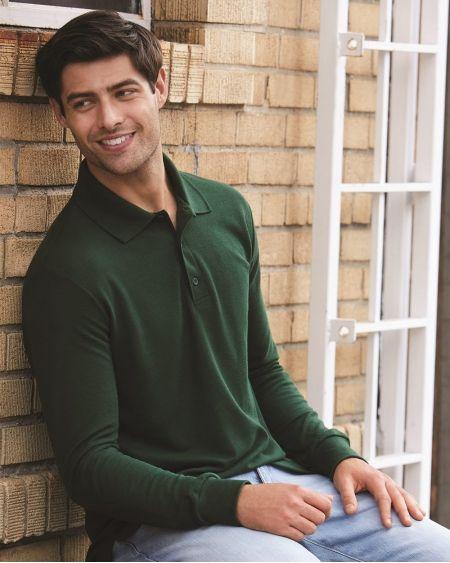 Gildan-DryBlend® Double Piqué Long Sleeve Sport Shirt-72900