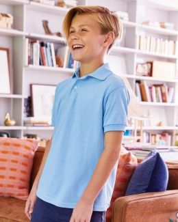 Hanes-Youth Ecosmart® Jersey Sport Shirt-054Y
