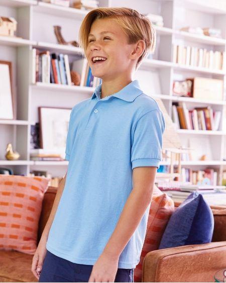 Hanes-Youth Ecosmart® Jersey Sport Shirt-054Y