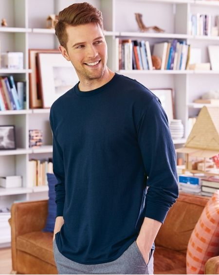Hanes-ComfortSoft® Long Sleeve T-Shirt-5286