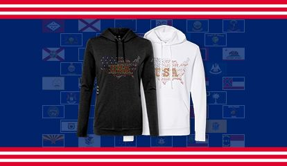 Quality Material / Fabulous Designs / Enjoyable Visual Effect/ Free Customization. With different materials and designs, the American state themed heat transfers all show you amazing visual effects.